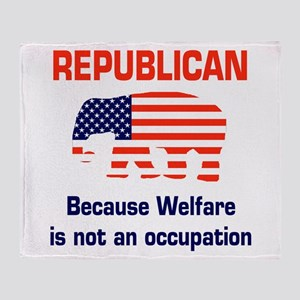 welfareoccupation Throw Blanket