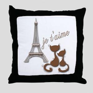 Chocolate Brown I Love Paris Eiffel Tower Cats Thr