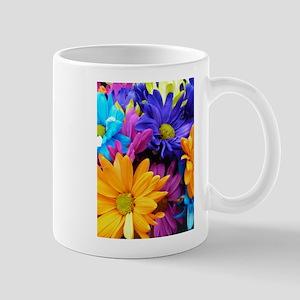 Vibrant Neon Gerbera Daisies Mug
