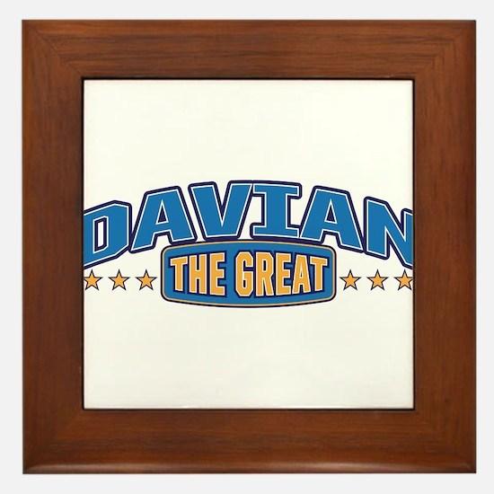 The Great Davian Framed Tile