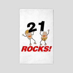 21 Rocks 3'x5' Area Rug