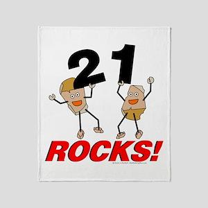 21 Rocks Throw Blanket