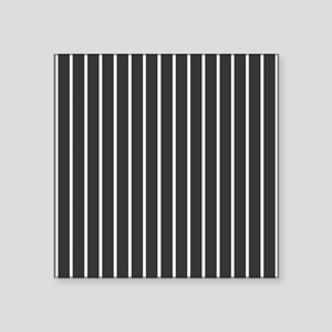 "'Black Pinstripe' Square Sticker 3"" x 3"""