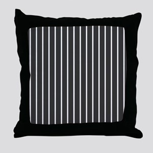 'Black Pinstripe' Throw Pillow
