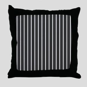'Black Pinstripe' Throw Pillow