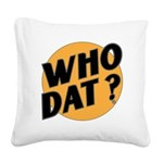 RETRO WHO DAT 1983 Square Canvas Pillow