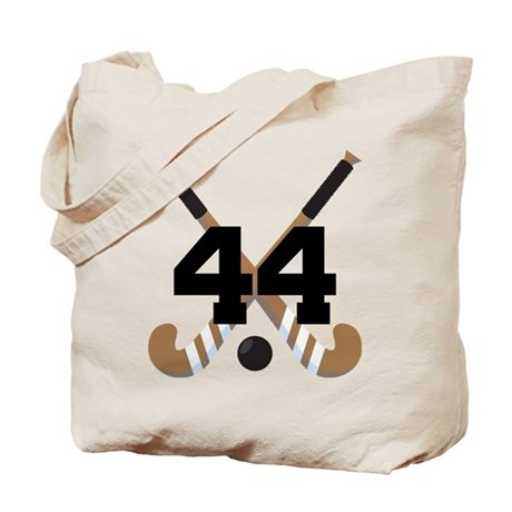 Field Hockey Number 44 Tote Bag