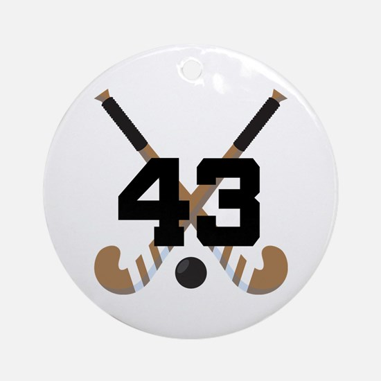 Field Hockey Number 43 Ornament (Round)
