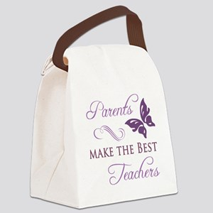 Parents Make The Best Teachers Canvas Lunch Bag