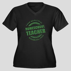 Homeschool Teacher Humor Women's Plus Size V-Neck