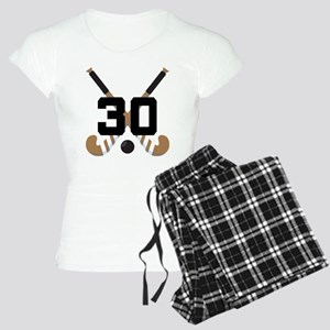 Field Hockey Number 30 Women's Light Pajamas