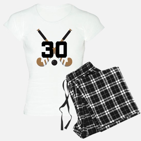 Field Hockey Number 30 Pajamas