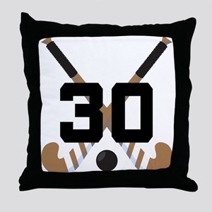 Field Hockey Number 30 Throw Pillow
