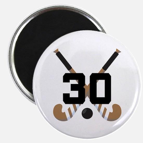 Field Hockey Number 30 Magnet