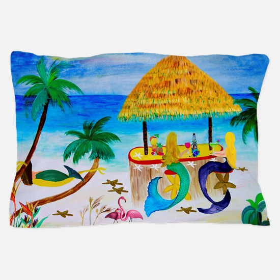 Mermaids Tiki Bar Pillow Case