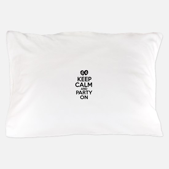 64 year old designs Pillow Case