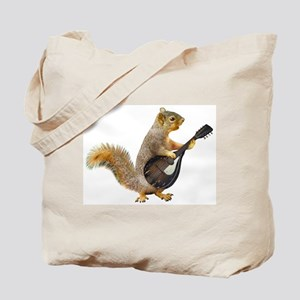 Squirrel Mandolin Tote Bag