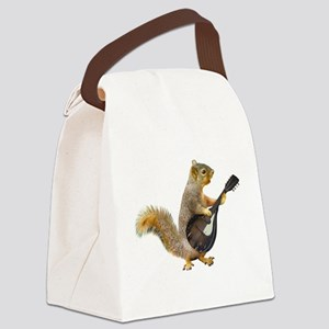 Squirrel Mandolin Canvas Lunch Bag