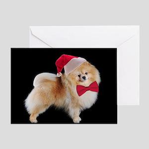 Santa Pom Christmas Card