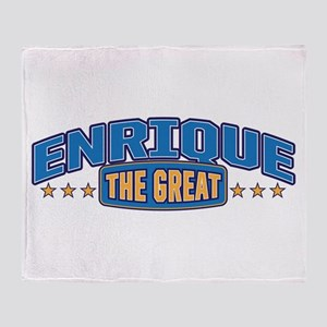 The Great Enrique Throw Blanket