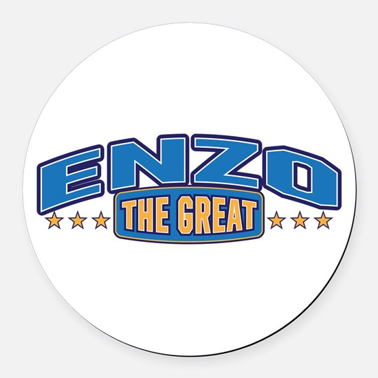 The Great Enzo Round Car Magnet