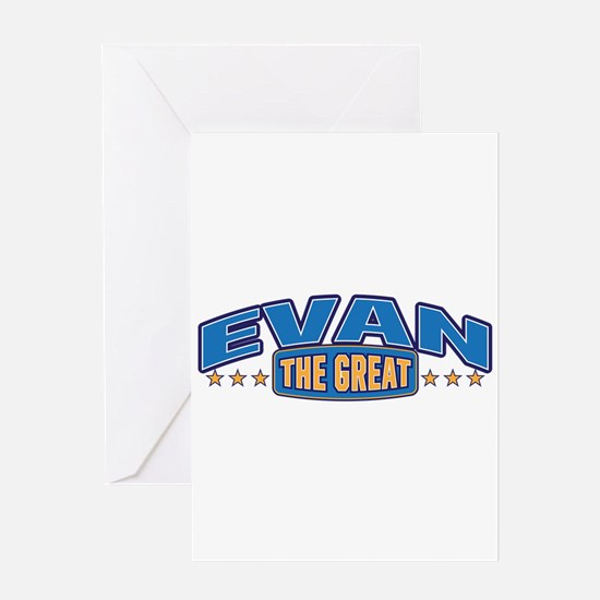 The Great Evan Greeting Card