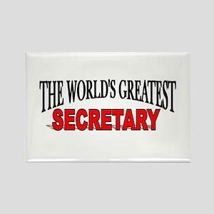 """The World's Greatest Secretary"" Rectangle Magnet"