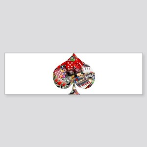 Las Vegas Icons - Spade Bumper Sticker