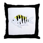 Sergeant Major Damselfish fish Throw Pillow