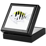 Sergeant Major Damselfish fish Keepsake Box