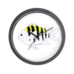 Sergeant Major Damselfish fish Wall Clock