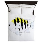 Sergeant Major Damselfish fish Queen Duvet