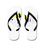 Sergeant Major Damselfish fish Flip Flops