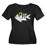 Sergeant Major Damselfish fish Plus Size T-Shirt
