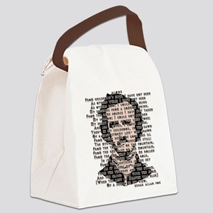 """ALONE"" Poe Poem Canvas Lunch Bag"