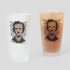 """ALONE"" Poe Poem Drinking Glass"