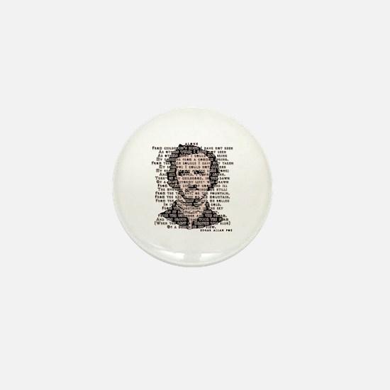 """""""ALONE"""" Poe Poem Mini Button"""