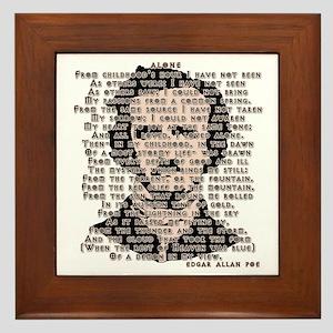 """""""ALONE"""" Poe Poem Framed Tile"""