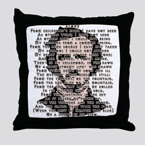 """ALONE"" Poe Poem Throw Pillow"