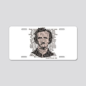 """ALONE"" Poe Poem Aluminum License Plate"
