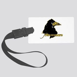 Poe's Raven by Manet Large Luggage Tag