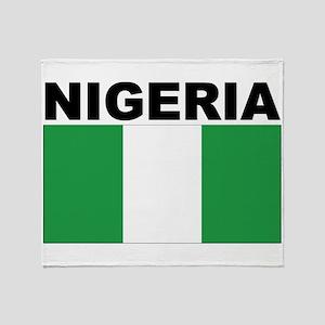 Nigeria Flag Throw Blanket