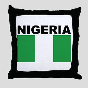 Nigeria Flag Throw Pillow