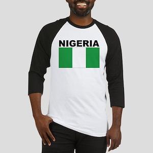 Nigeria Flag Baseball Jersey