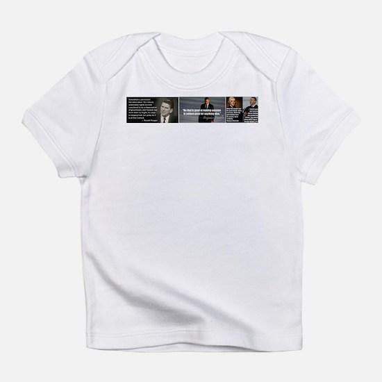 Presidential quotes vs Obama Infant T-Shirt