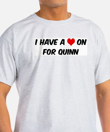 Heart on for Quinn Ash Grey T-Shirt