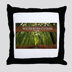 The Great thing in this life Throw Pillow