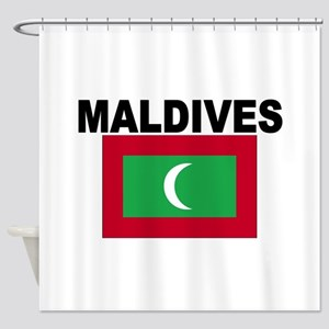 Maldives Flag Shower Curtain