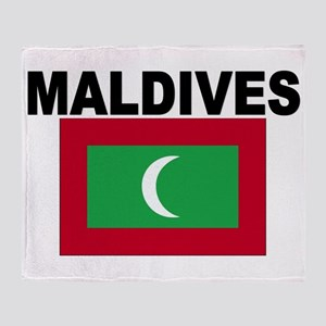Maldives Flag Throw Blanket