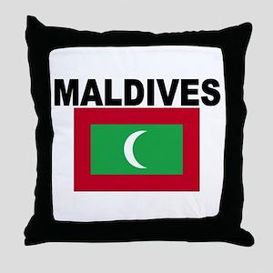 Maldives Flag Throw Pillow